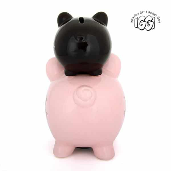 His and Hers Ceramic Piggy Bank back