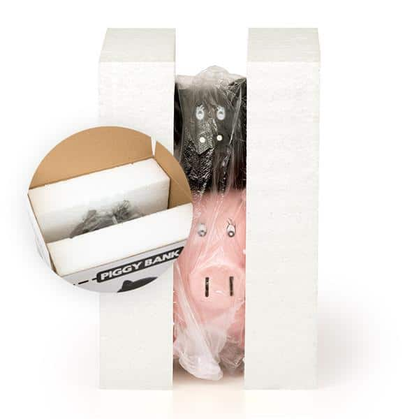 His and Hers Ceramic Piggy Bank packaging