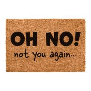 Oh No Not You Again Funny Coir Doormat
