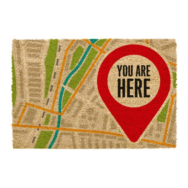 You are here themed doormat