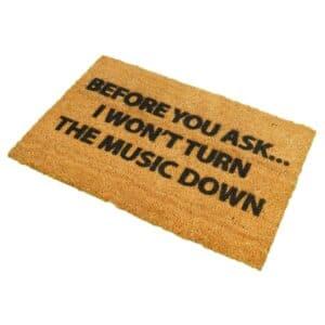 Loud Music Funny Coir Doormat