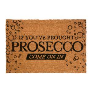 Prosecco Novelty Coir Doormat