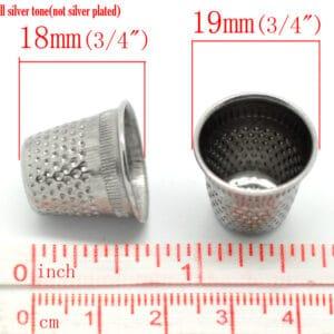 Silver Tone Sewing Thimbles