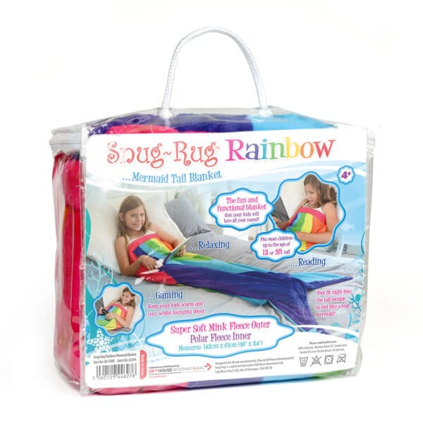 Snug Rug Rainbow Mermaid Tail Kids Blanket