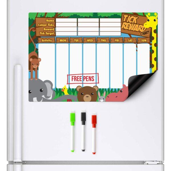 Jungle Reward chart for a fridge