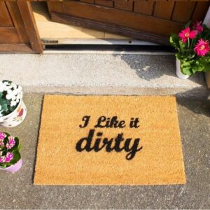 I Like It Dirty Funny Coir Front Doormat