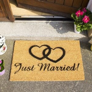Just Married Novelty Front Coir Doormat
