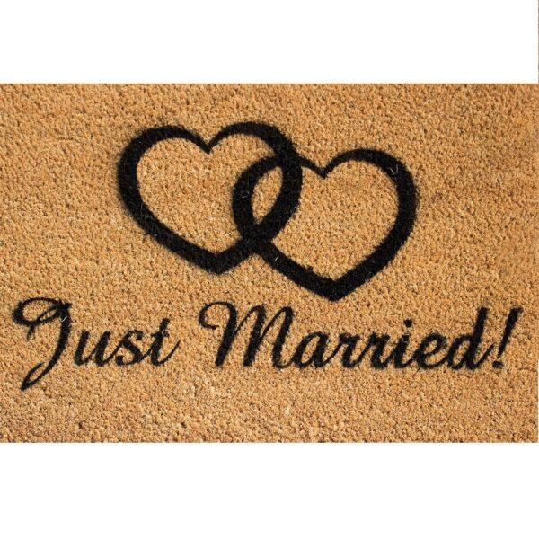 Just Married Novelty Front Coir Doormat