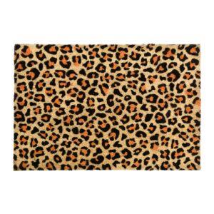 Leopard Print Front Doormat
