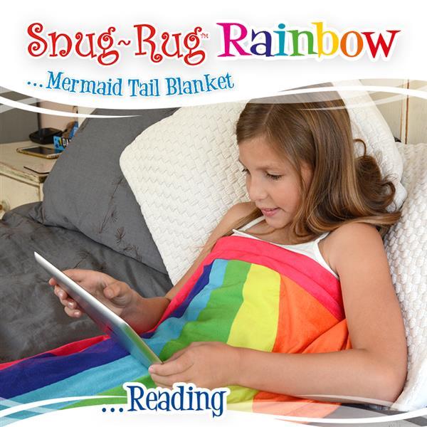Rainbow Mermaid Tail Blanket