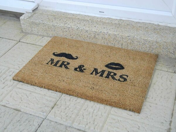 Mr and Mrs Novelty Coir Front Doormat