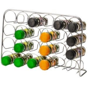 24 Jar Spice Rack Metal Free Standing