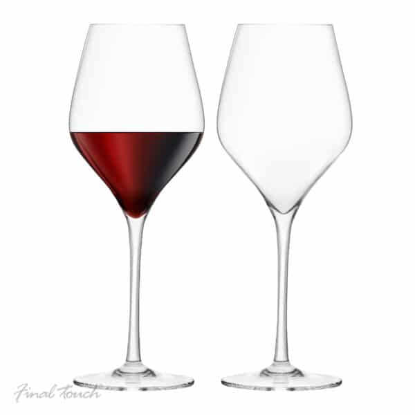 Final Touch Red Wine Glasses Lead-Free Pack of 2
