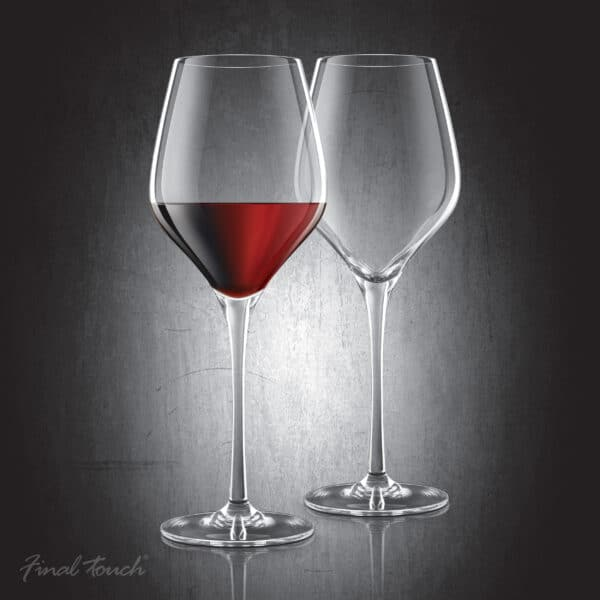Final Touch Red Wine Glasses Lead-Free DuraSHIELD Titanium Crystal
