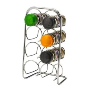 8 Jar Spice Rack Metal