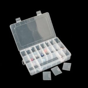 Storage Box with 24 Adjustable Compartments Multi-Purpose