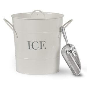 Traditional Ice Bucket With Lid and Scoop