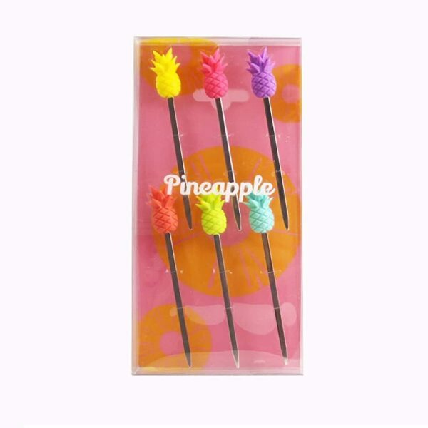 Set of 6 Pineapple Cocktail Party Picks