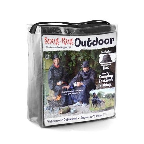 Snug-Rug Outdoor Blanket With Sleeves And Hat