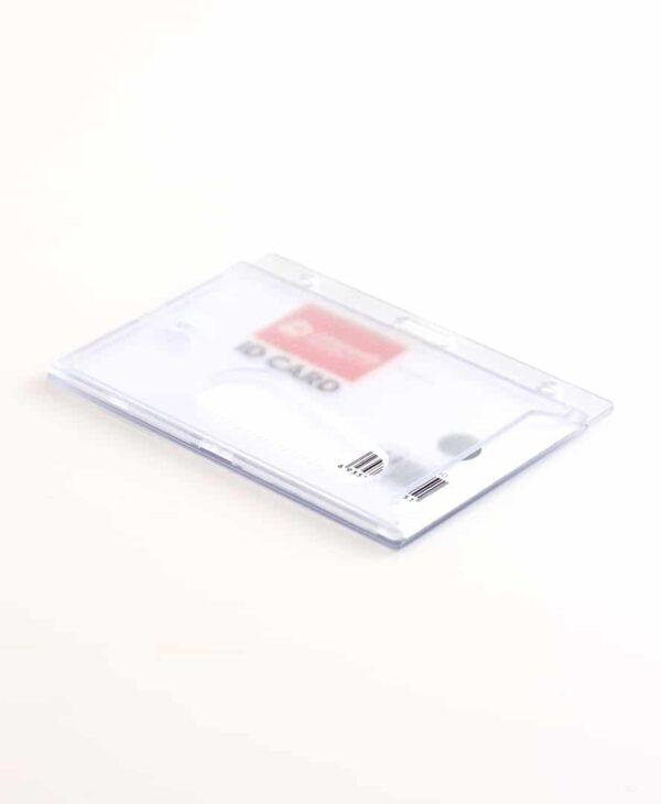Clear Enclosed Rigid ID Card Holder