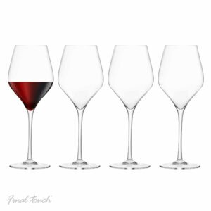 Final Touch Red Wine Glasses