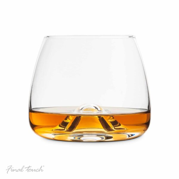 Set of 2 Final Touch Crystal Whisky Glasses Made with DuraSHIELD Titanium-6406