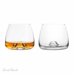Final Touch Crystal Whisky Glasses