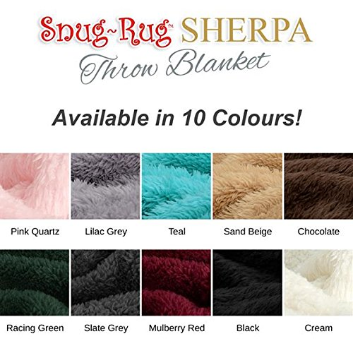 Snug Rug Sherpa Throw Blanket Colours