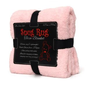 Snug Rug Sherpa Throw Blanket Pink
