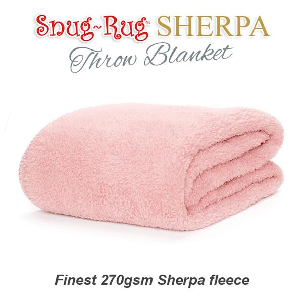 Snug Rug Sherpa Throw Blanket