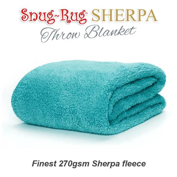 Snug Rug Sherpa Throw Blanket Teal
