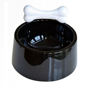 Dog Pet Food And Water Bowl Black