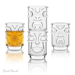 TIKI Stackable Clear Shot Glasses