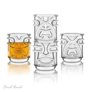Final Touch TIKI Stackable TUMBLERS Drinking Glasses