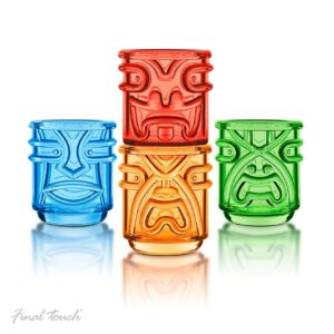 Final Touch TIKI Tumblers Coloured Drinking Glasses