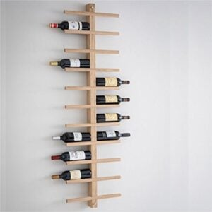 Oak Wine rack walled mount