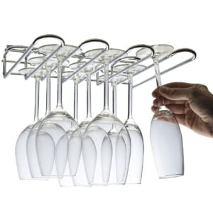 Cupboard Wall Mounted Wine Glass Rack