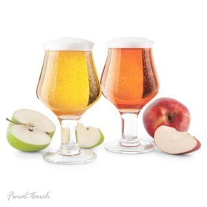 Final Touch Hard Cider Glasses