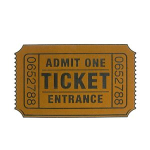 Cinema Movie Ticket Doormat Entrance Door Mat