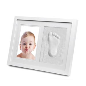 Photo Frame New Baby Footprint Foot Print Cast Set
