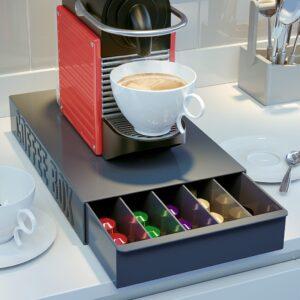 Coffee Pod Draw Capsule Drawer Holder Dispenser Universal