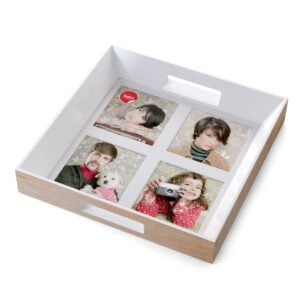 Wooden Photo Frame Serving Tray