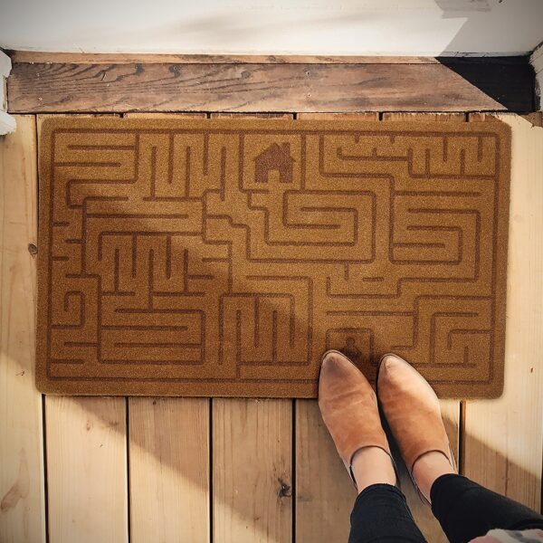 Maze Labyrinth Novelty Outdoor Front Doormat