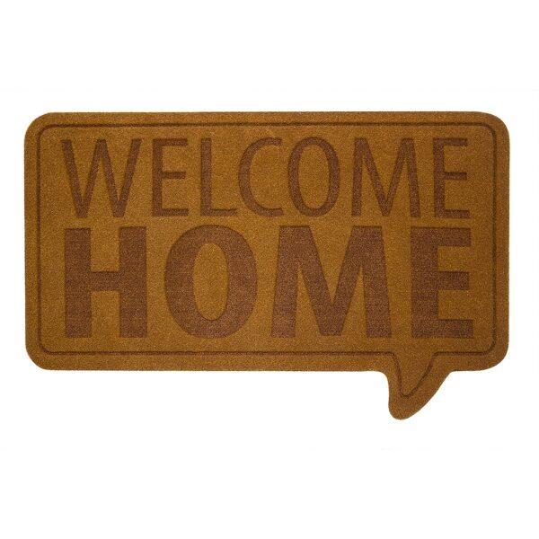 Welcome Home Brown Novelty Outdoor Front Doormat