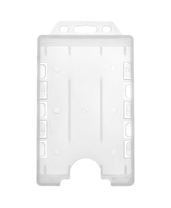 Clear Double Sided Vertical ID Card Badge Holder
