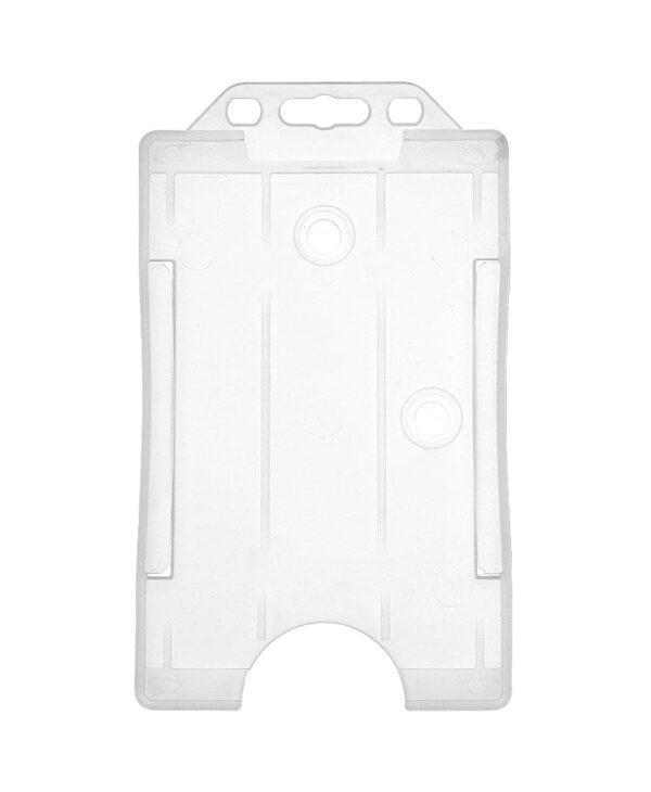 Clear Vertical ID Badge Holder single