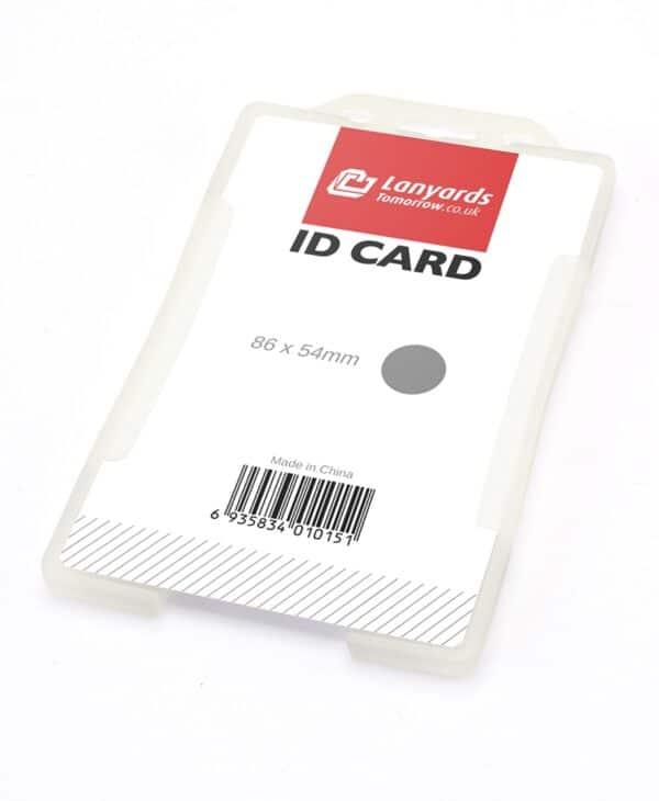 Starrer klarer einseitiger vertikaler Kartenhalter 3