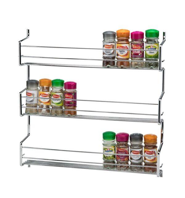 Wall Cupboard Door Mounted Spice Rack