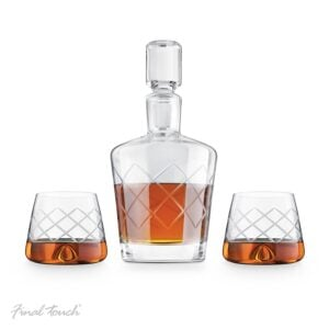 Crystal Whisky Decanter and Glasses Set