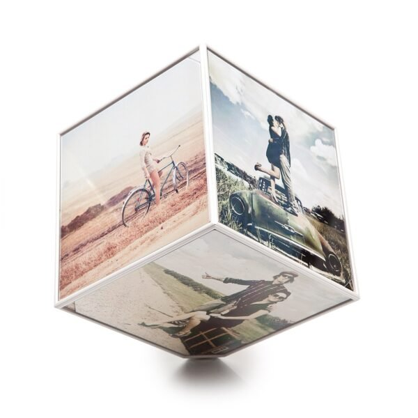 The Kube Rotating Multi Photo Frame